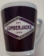 Lumberjacks White Ceramic Latte Mug - 12oz.