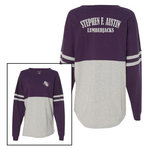 Boxercraft - Jersey Purple-Grey Pom Pom Long Sleeve T-Shirt
