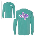 Comfort Colors Seafoam Long Sleeve Word Art