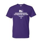 SFA Lumberjack Football Purple Tee