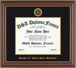 Honors Cherry Mahogany Gold Trim Diploma Frame