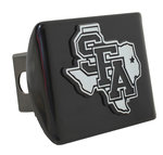 SFA METAL HITCH COVER BLACK W/ SFA CHROME STATE