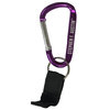 Carabiner with Strap Key Ring Purple