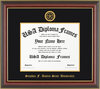 Honors Cherry Mahogany Gold Trim Diploma Frame