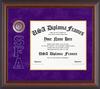 Frame SFA Side Letters Logo Frame; Cherry Matte; Purple Suede/gold L4-120
